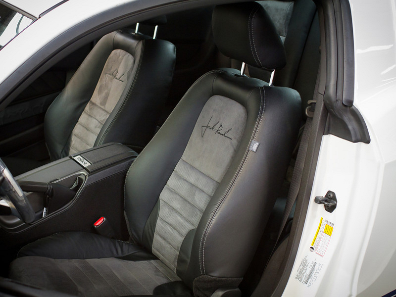 Seats 2010 Mustang Leather Seats, Convertible Blk w/Suede & Stitching Accessories