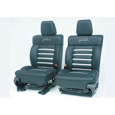 Seats 2004-2008 F150 Leather Seats, SuperCrew Black/Silver Accessories