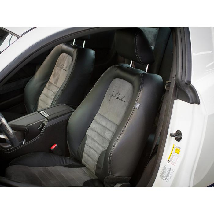 2010 Mustang Leather Seats, Convertible Blk w/Suede & Stitching