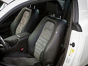 2011-2012 Mustang Leather Seats, Coupe Blk w/ Suede & Stitching