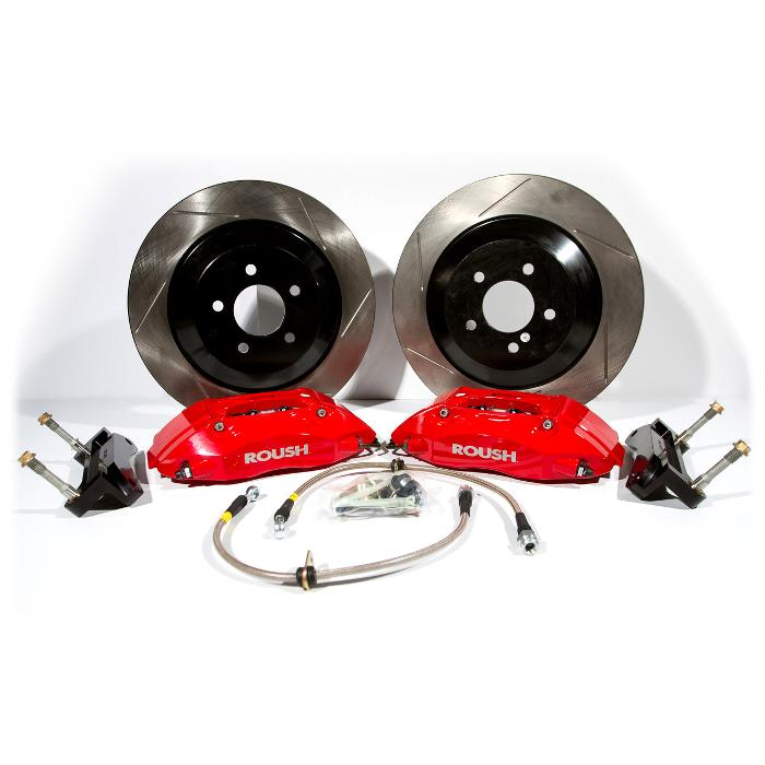 2005 - 2014 Mustang Red 4 Piston Brake Kit w/ 1 pc Rotors