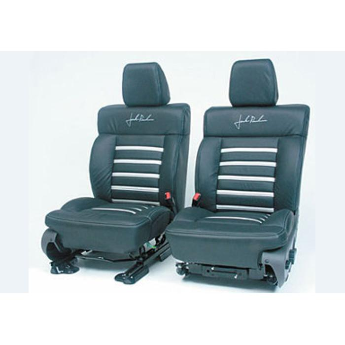 2004-2008 F150 Leather Seats, SuperCab Black/Silver