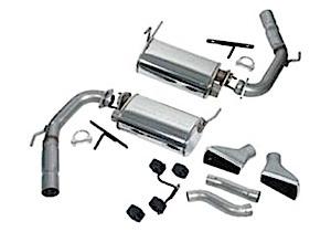 1999-2004 Ford Mustang Exhaust Muffler Kit, Short