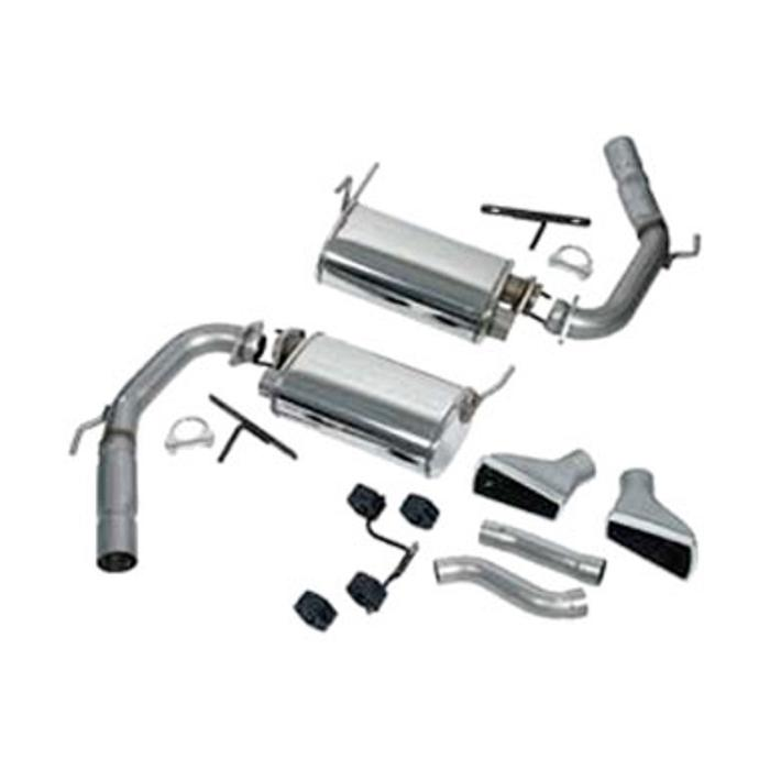 Exhaust Muffler Kit, Short 1999-2004 Ford Mustang