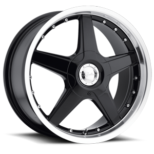Raceline Wheels 125 5 Gloss Black with Machined Lip