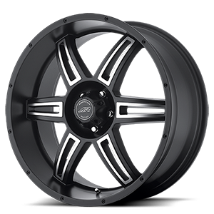 AR890 Satin Black Machined 5 lug