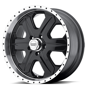American Racing Custom Wheels AR321 Fuel 5 Gloss Black w/ Machined Lip