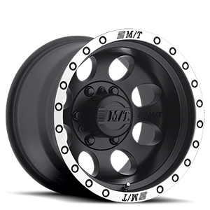 Mickey Thompson Classic Baja Lock™ - 15x10 6 Matte Black with Machined Simulated Bead Lock