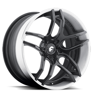 Forgiato 2.0 DIECI-ECX 5 Black Center, White Lip