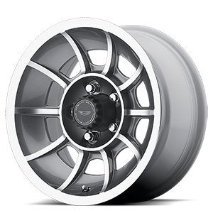 American Racing Custom Wheels VN47 Vector 5 Anthracite Gray Machined Face