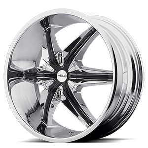 Helo Wheels HE866 6 Chrome w/ Gloss Black Accents