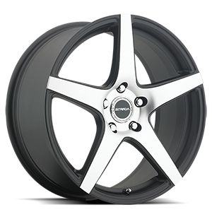 Strada Wheels Calore 5 Black Machined Face