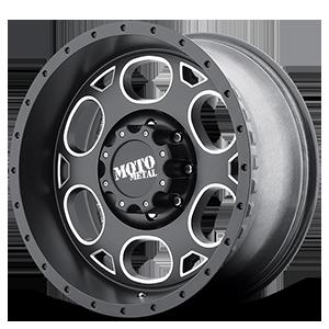Moto Metal MO964 8 Satin Black Milled