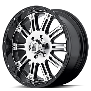 XD Series by KMC XD795 Hoss 6 Gloss Black with Machine Face