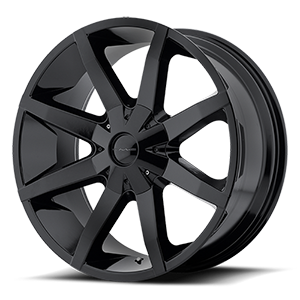 KMC Wheels KM651 Slide 6 Gloss Black w/ Clear Coat