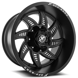 XF Off-Road XF-206 6 Matte Black Milling Holes - 20x12