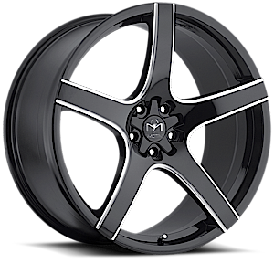Motiv Luxury Wheels 410 Maranello 5 Gloss Black Milled Spokes