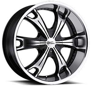 Milanni Wheels 452 Stellar 5 Gloss Black with Machine Face and Lip