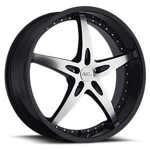 Milanni Wheels 453 ZS-1 5 Gloss Black with Machine Face