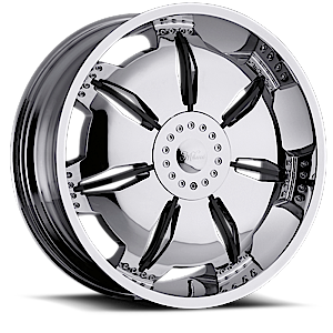 Milanni Wheels 455 Paralyzer 5 Chrome with Gloss Black Insert