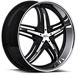 Milanni Wheels 457 Force 5 Gloss Black with Machine Face and Lip