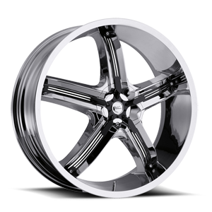 Milanni Wheels 459 Bel Air 5 5 Chrome with Gloss Black Insert