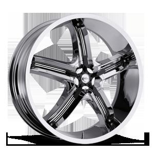 Milanni Wheels 459 Bel Air 5 5 Chrome with Gloss Black Insert