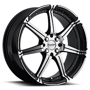 Concept One Wheels 518 4 Black Machined