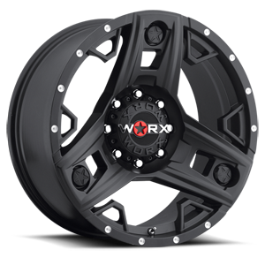 WORX Wheels 801 Triad Truck 8 Satin Black with Spot Milled Dimples