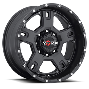 WORX Wheels 802 Havoc 8 Satin Black with Spot Milled Dimples