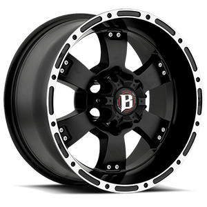 815 Flat Black w/ Machined Lip 6 lug