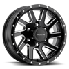 Raceline Wheels Twisted Trailer 6 Black Milled