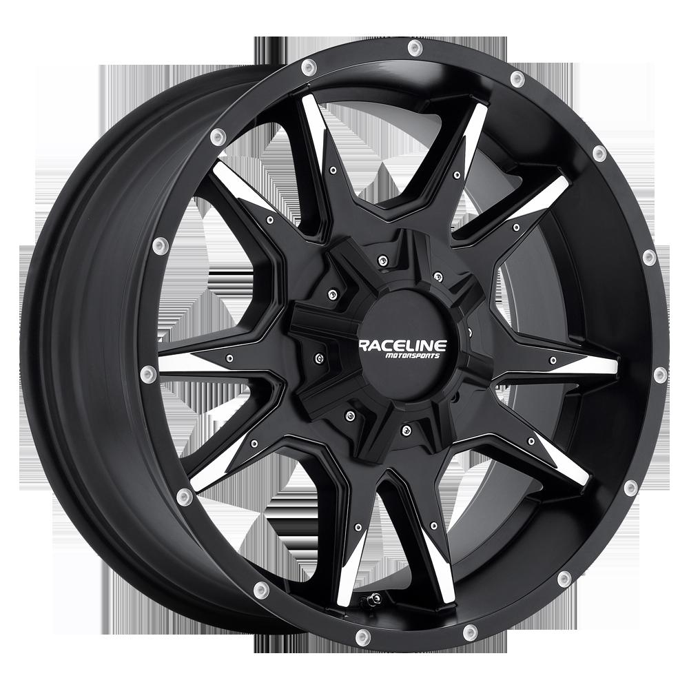 Raceline Wheels 912M Cobra 5 Black & Machined