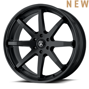 ABL-32 Kaiser Satin Black w/ Gloss Black Lip 6 lug