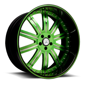 Asanti Forged Wheels AF134 5 Green