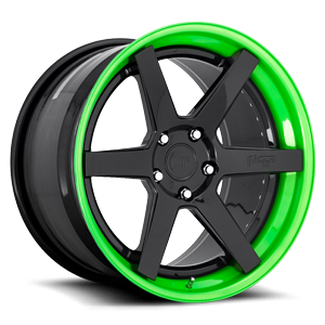 Altair Gloss Black w/ Lollipop Lime 5 lug