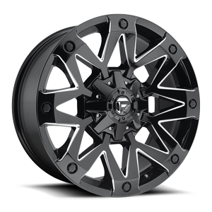 Ambush - D555 Gloss Black & Milled 5 lug
