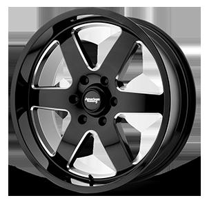 American Racing Custom Wheels AR926 Patrol 6 Gloss Black Milled