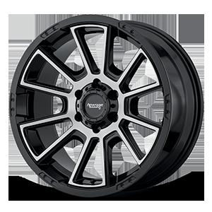 American Racing Custom Wheels AR933 6 Gloss Black Machined Face
