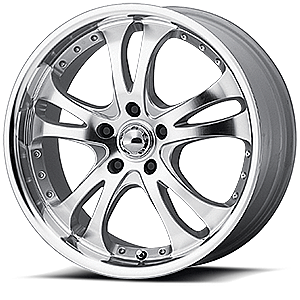 American Racing Custom Wheels AR383 Casino 5 Silver w/ Machined Face and Lip