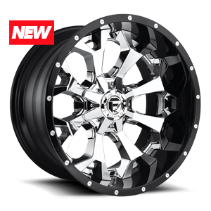 Fuel 2-Piece Wheels Assault - D246 5 Chrome Face w/ Gloss Black Lip