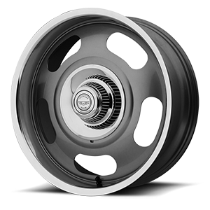 American Racing Custom Wheels VN506 Rally One-Piece 5 Mag Gray Center w/ Polished Lip