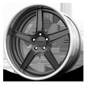 American Racing Custom Wheels VF305 5 Grey with Machined Lip