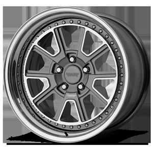 American Racing Custom Wheels VF307 5 Gunmetal with Chrome Lip