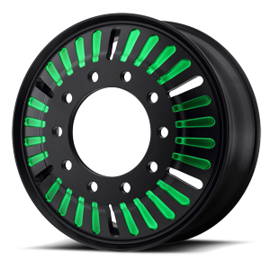 ATX Series AO403 Roulette 10 Satin Black with Green Accents