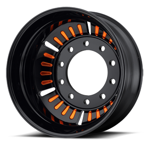 ATX Series AO403 Roulette 10 Gloss Black with Orange Accents