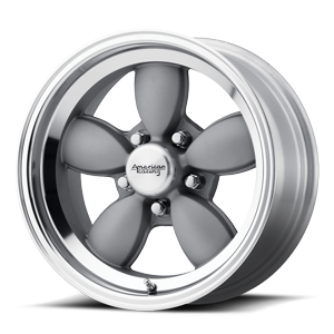 American Racing Custom Wheels VN504 5 Mag Gray Center w/ Mirror Lip