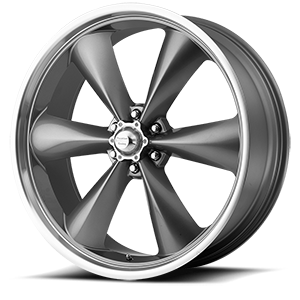 American Racing Custom Wheels AR104 Torq Thrust St 6 Mag Gray w/ Machined Lip
