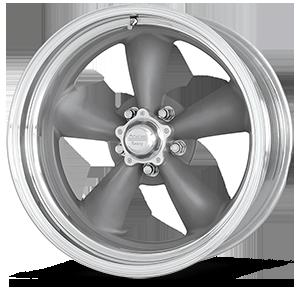 American Racing Custom Wheels VNCL205 Classic Torq Thrust II 5 Torq Thrust Gray w/ Polished Lip