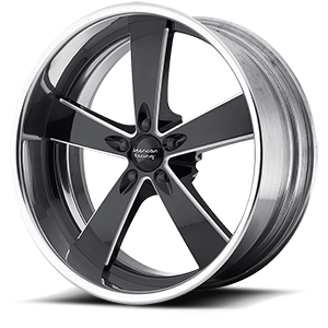 American Racing Custom Wheels VN472 Burnout 5 Black Milled w/ Polished Barrel